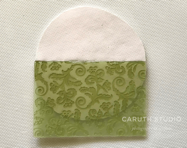 Press texture into clay