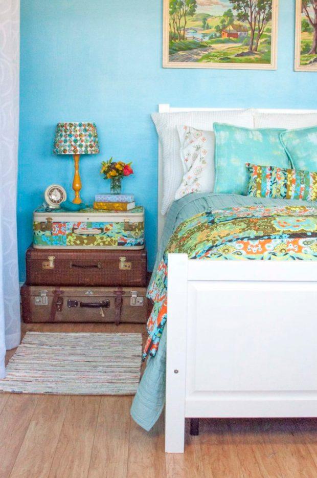 Vintage floral bedroom