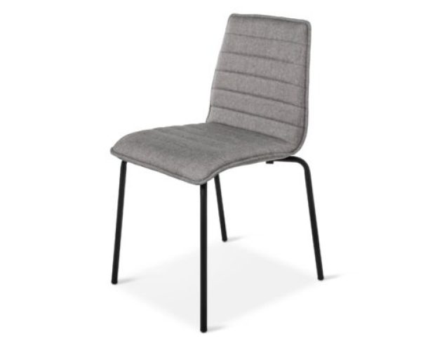 Trap Stacking Chair Gray with Black Legs - Room Essentials™