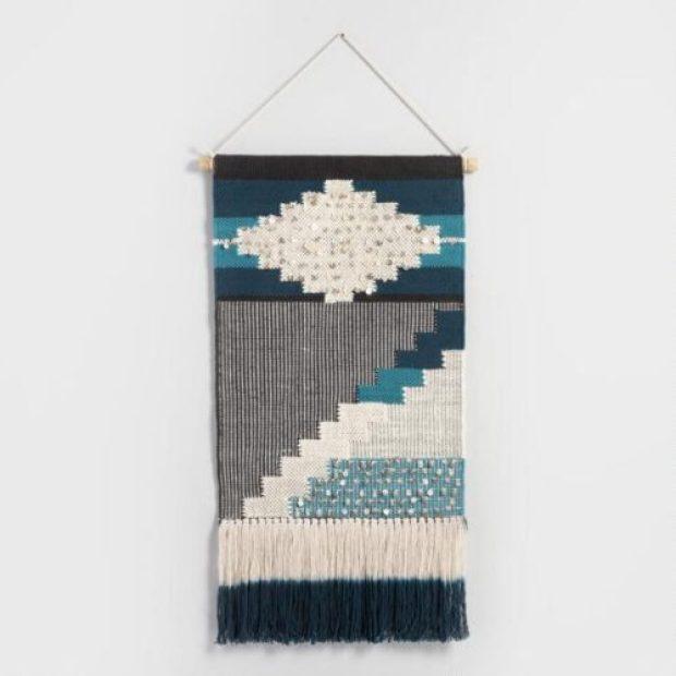 Indigo Woven Wall Hanging