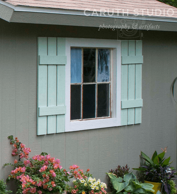Shutters on shed