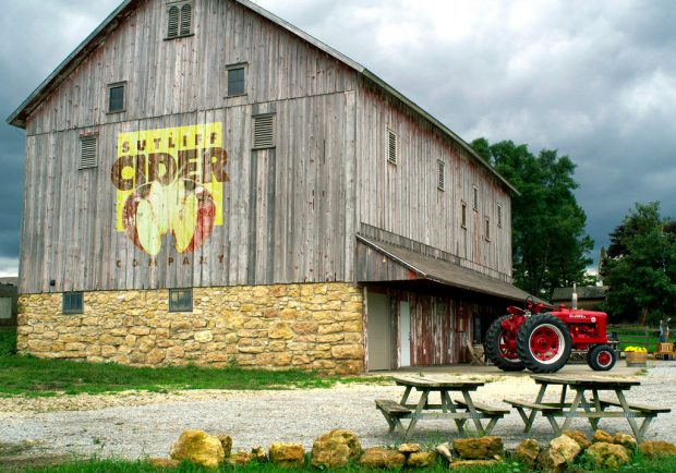 Sutliffe Cider barn and tractor