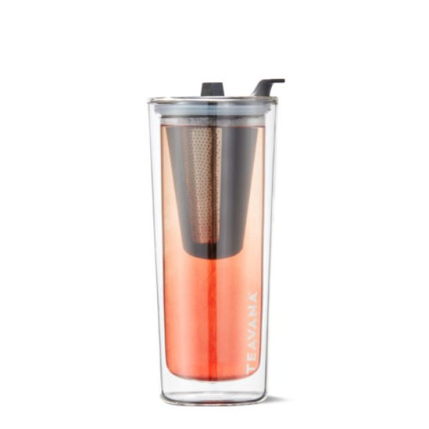 DOUBLE WALLED GLASS STEEP AND GO TUMBLER