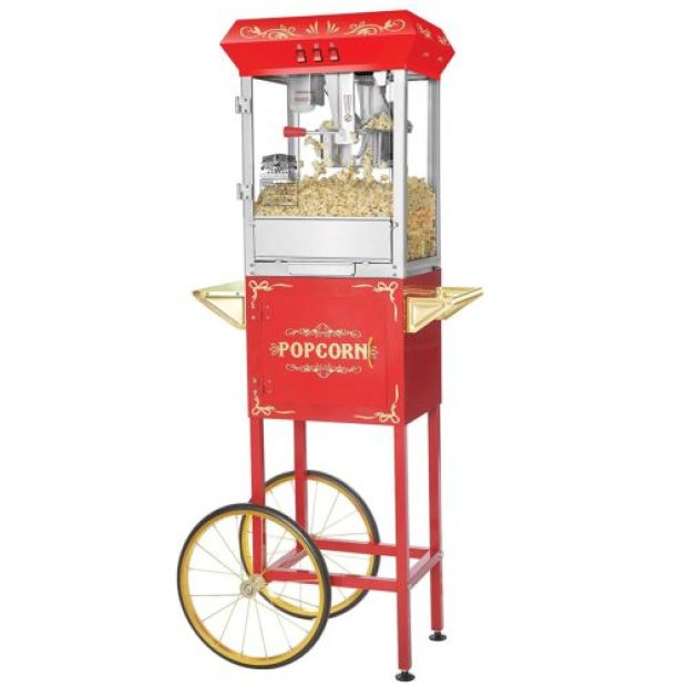 Great Northern Popcorn 6097 8 OZ Foundation Red Full Antique Style Popcorn Popper Machine