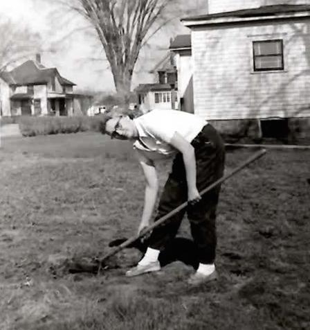 Elsie gardening
