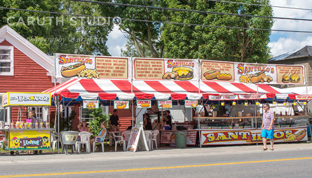 food stalls at Madison Bouckville Antique Week