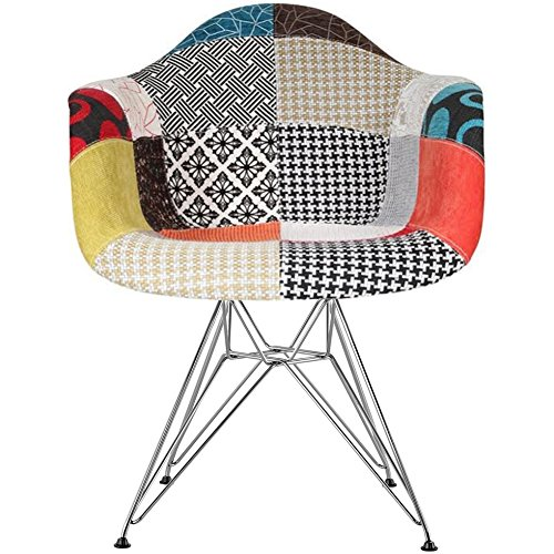 Amazon_2xhome - Multi-color – Modern Upholstered Eames Style Armchair