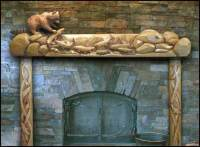 Carved by Ramsey, Carved Wood Fireplace Mantels ...