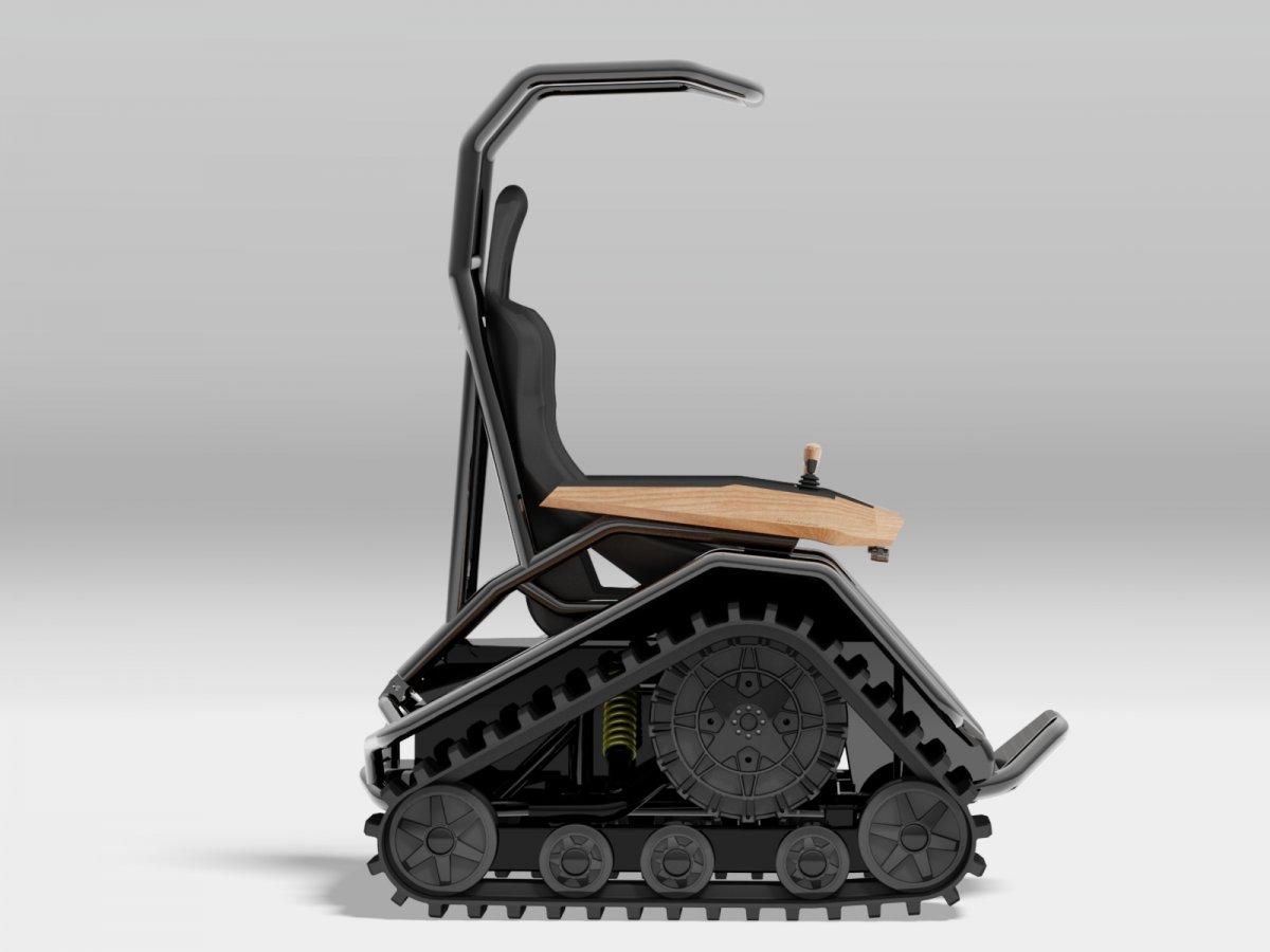 tank chair wheelchair rocking outdoor ziesel off road
