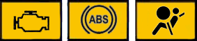 warning lights including ABS, engine management and glow plug