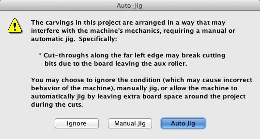 Auto-Jig-warning