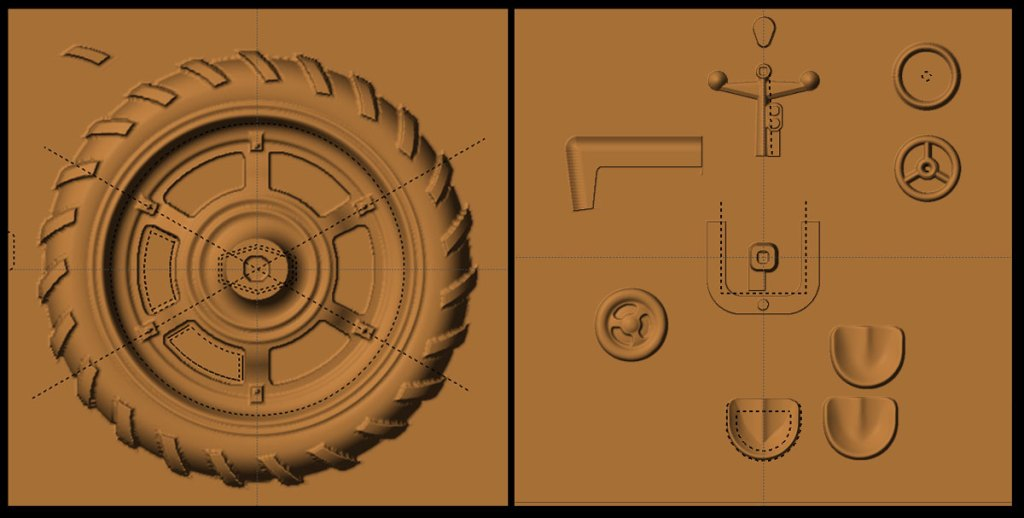 tractor parts modeling