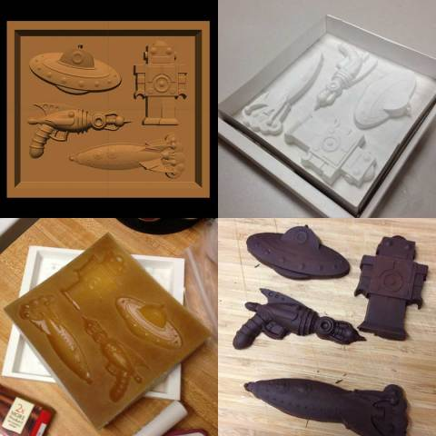 CarveWright Chocolate Mold