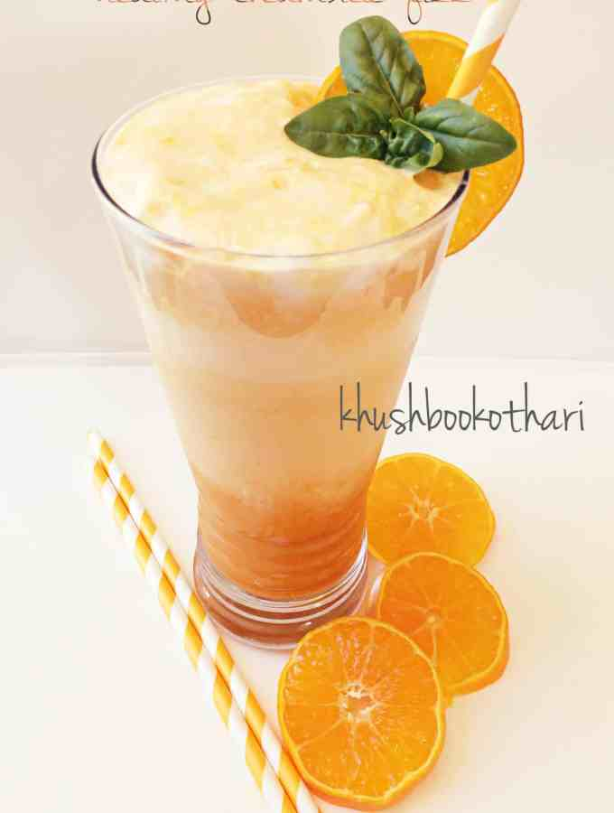 Healthy Creamsicle Fizz