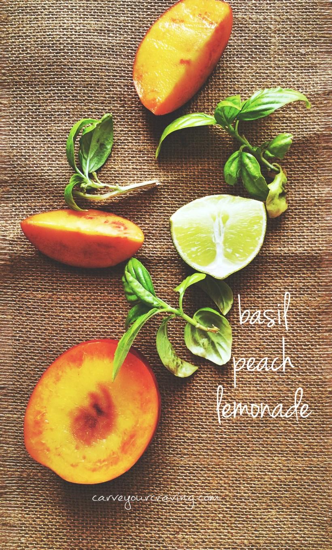 basil peach lemonade