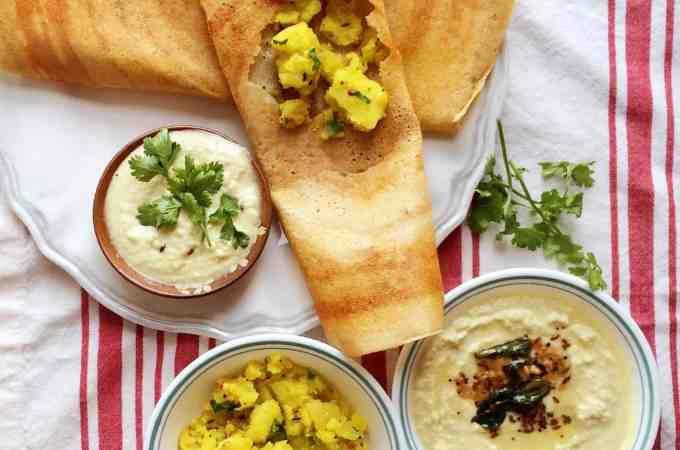 Healthy Mix dal masala dosa – no rice added
