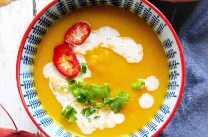 Thai spiced butternut squash soup
