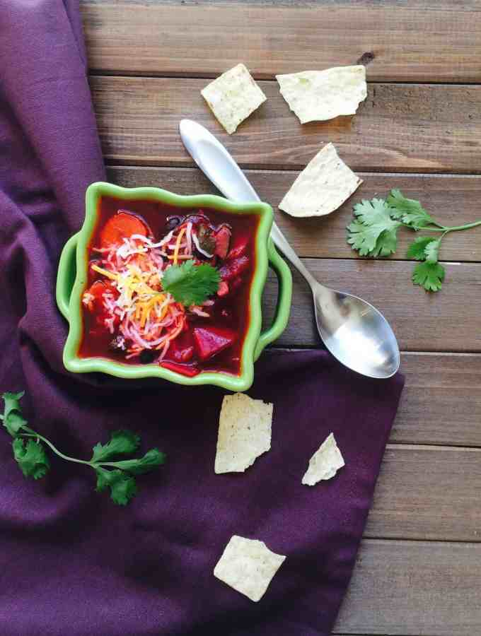 Vegan beetroot Chili – one pot meal