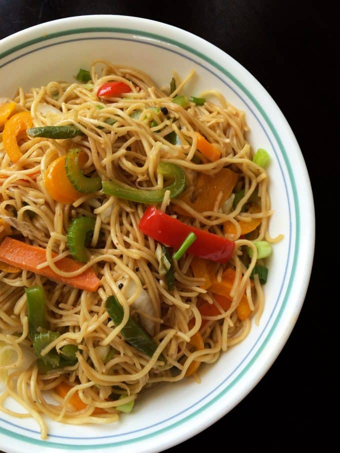 Perfect veg hakka noodles indo chinese how to make hakka noodles forumfinder Images