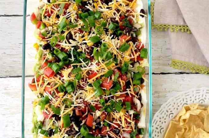 Easy mexican 7 layer party dip