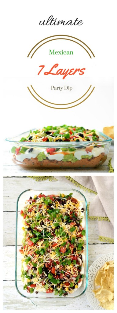 easy mexican 7 layer party dip #appetizer #dip