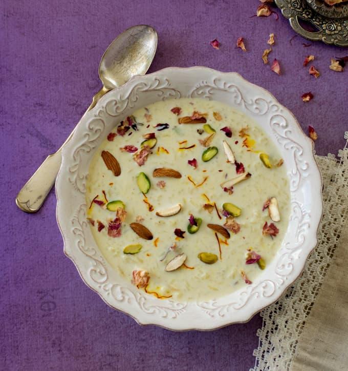 saffron-rice-kheer-indian-rice-pudding-keer-diwali - Carve ...