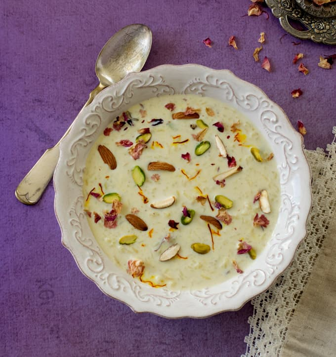 rice kheer - Indian rice pudding