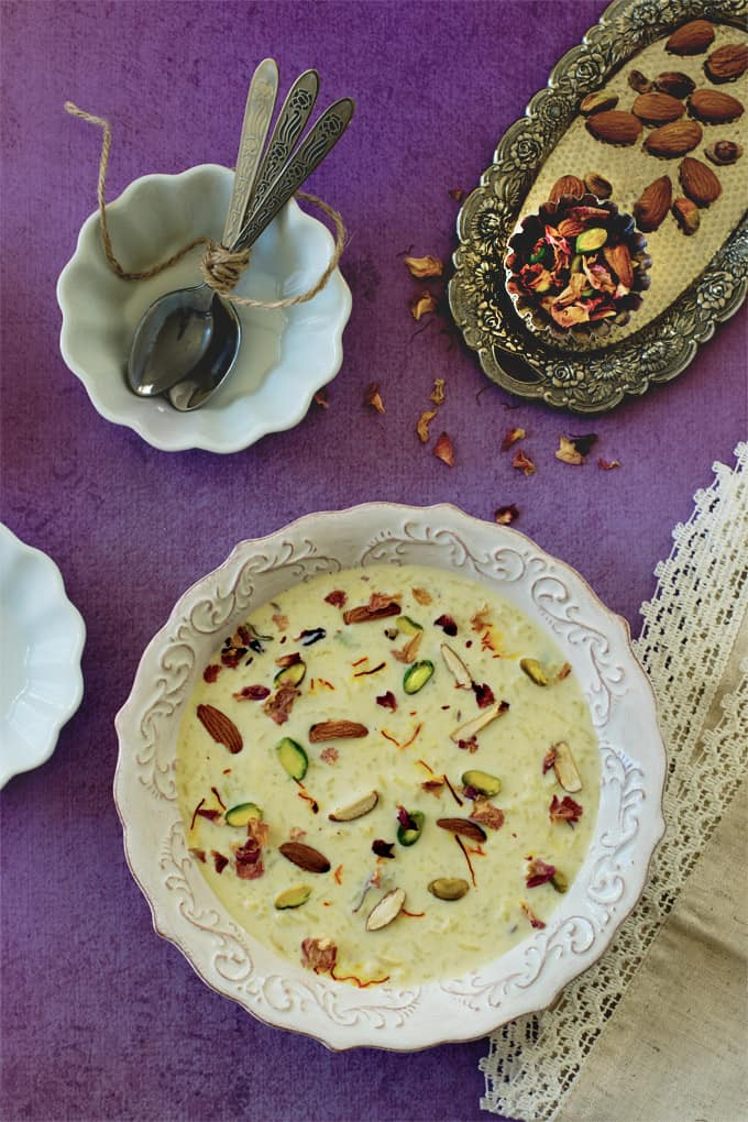 Saffron rice kheer - Indian rice pudding - one pot dessert ...