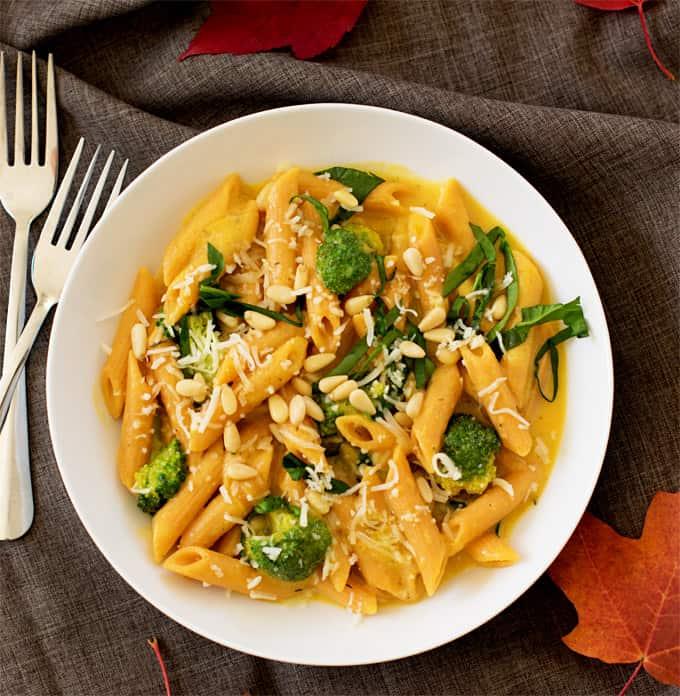 veggie-booster-pasta-in-creamy-butternut-squash-sauce7