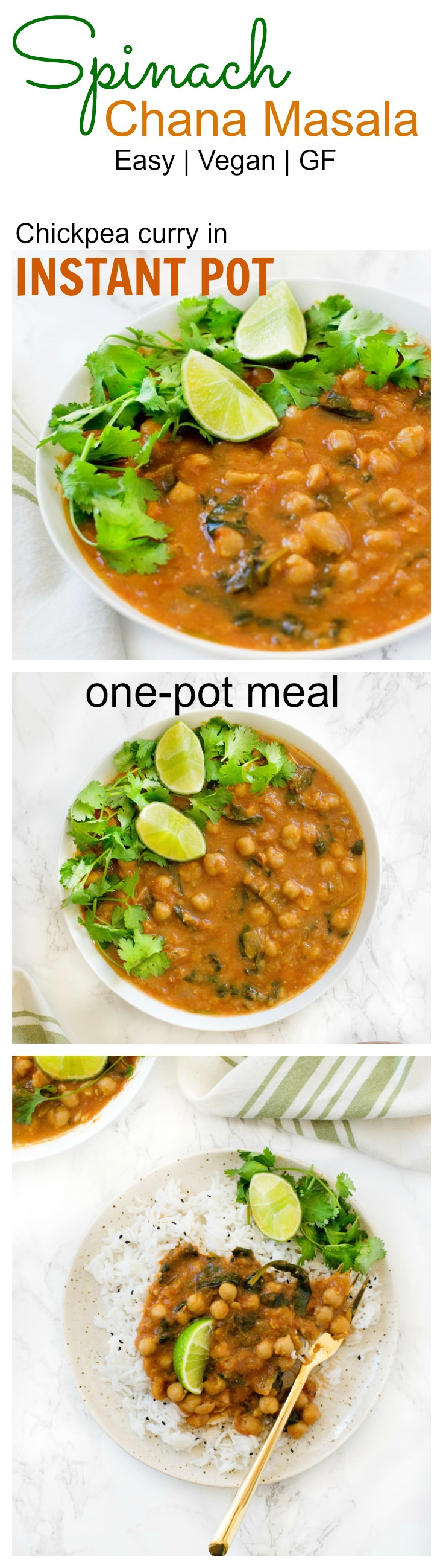 Easiest chickpea curry from scratch made in one go using a pressure cooker Instant Pot. Chana masala or cholay as you call it makes a great hands free one pot meal . Get step by step recipe and instructions on www.CarveYourCraving.com