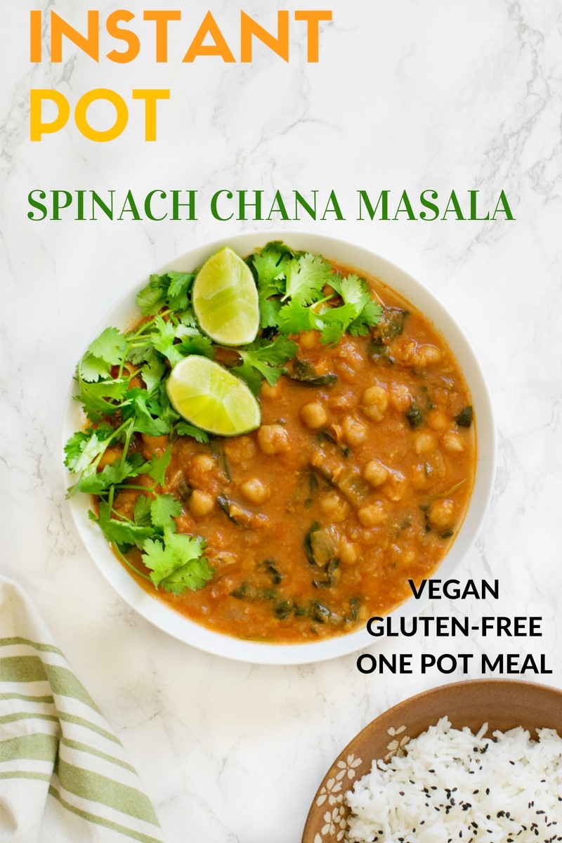 Instant Pot Chana Masala / chickpea curry / cholay