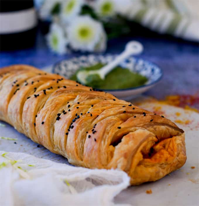 Achari Paneer Braided Puff Pastry Recipe Make Ahead Of