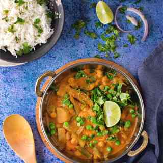 Chickpeas Vegetable korma / Instant pot Veg Kurma