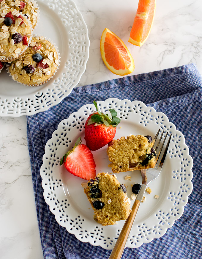 Berry Oats Cake Vegan