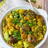 Instant Pot Undhiyu Recipe ( Mixed Vegetable Curry )