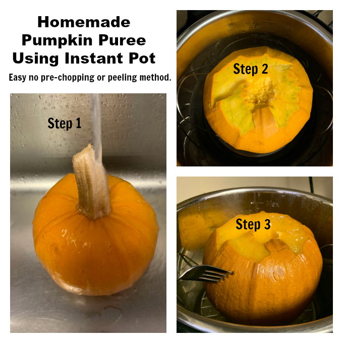 Step by step instructions of cooking Pumpkin in an Instant Pot