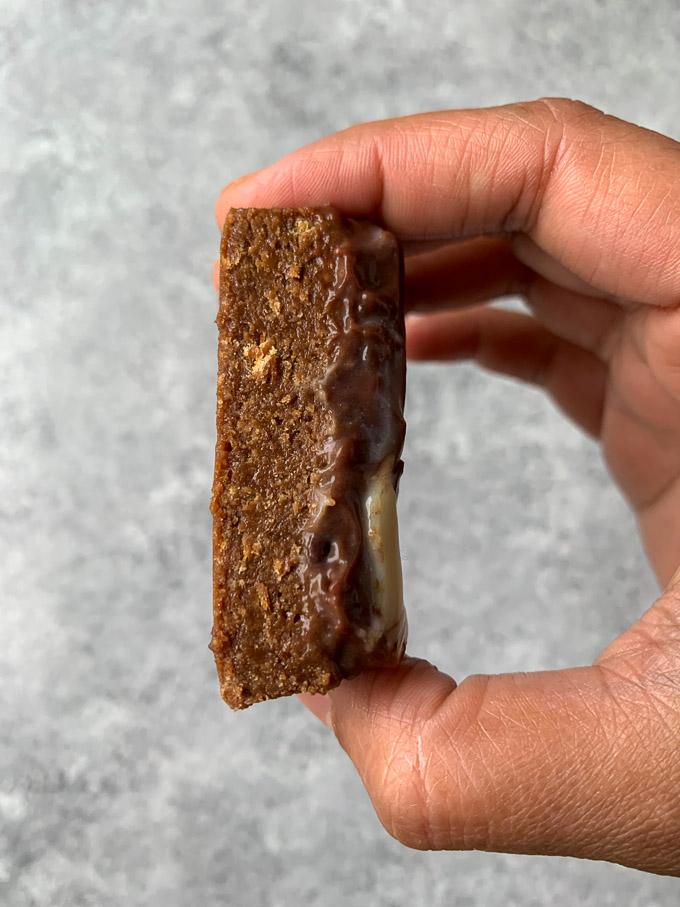 Closer look of the brownies