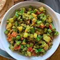 Green Beans Cucumber Masala
