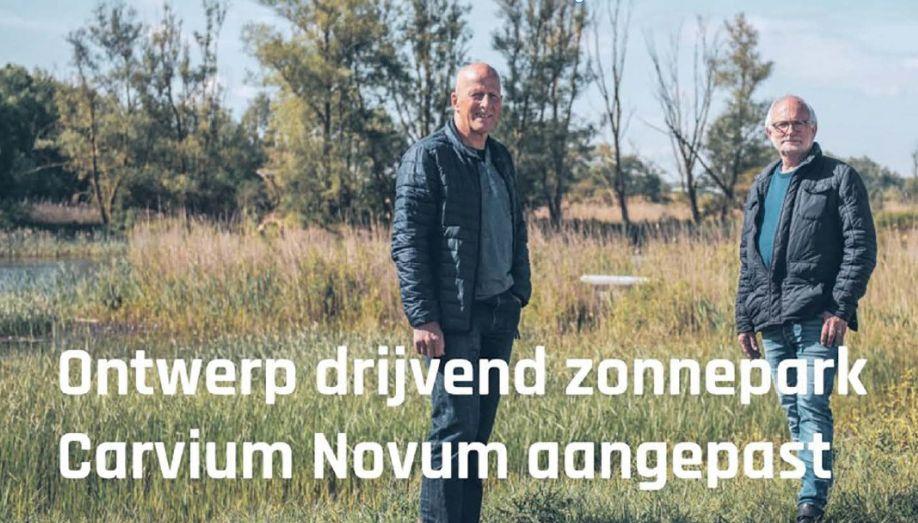 Theo Boerhof en Gerard Tittse van Stichting Natuurpark Carvium Novum