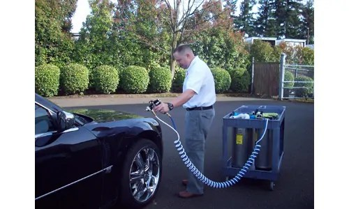 chemical dispensing car wash detailing cart
