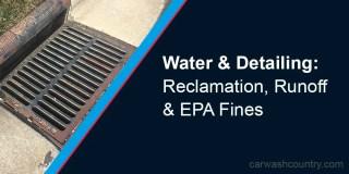 Detailing Runoff Storm Drain EPA Fines