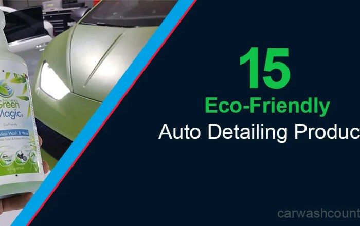 eco friendly auto detailing products