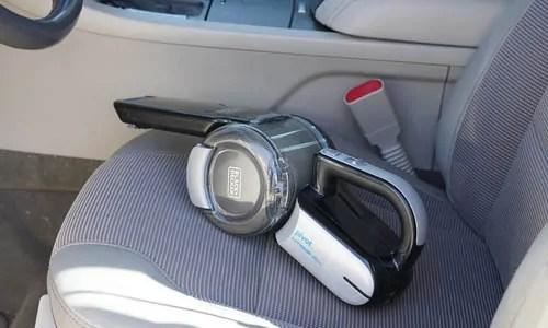 car vacuum on seat