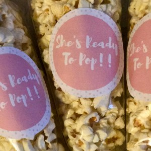 Ready to Pop – Babyshower Themed Popcorn Cones
