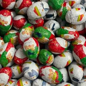 Chocolate Santa & Snowman Balls