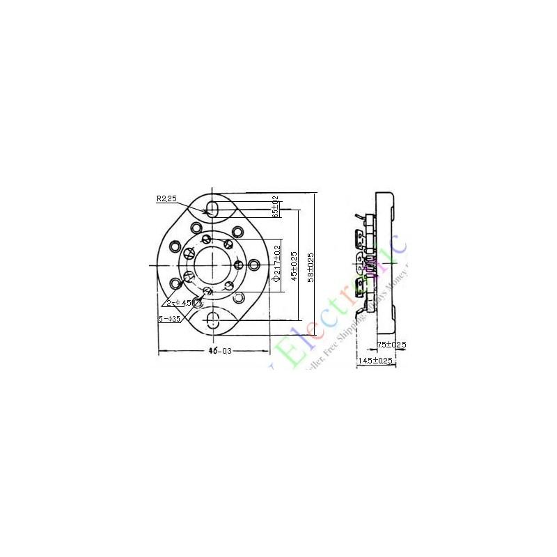 7pin Ceramic Vacuum Tube Sockets Valve Base for 1625 Audio