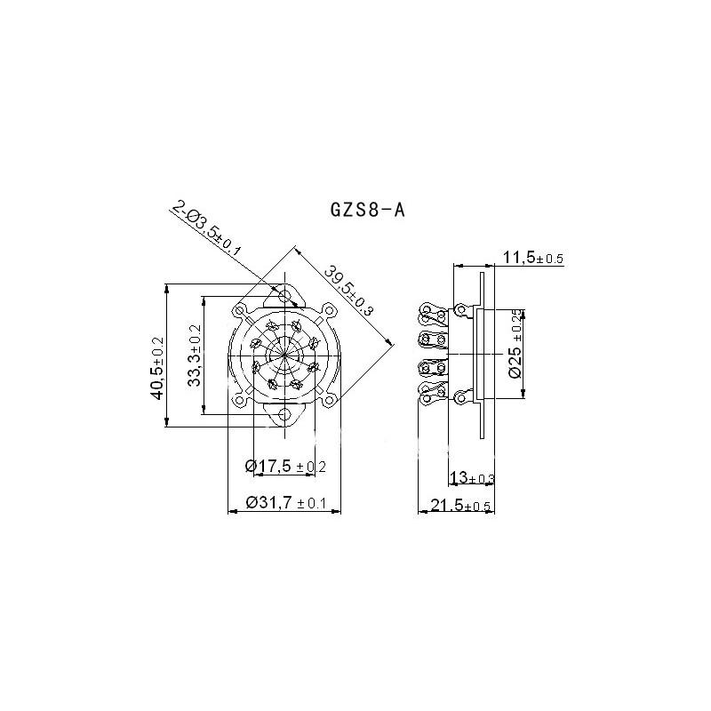 8pin Gold Bakelite Vacuum Tube Socket Octal Valve Chassis