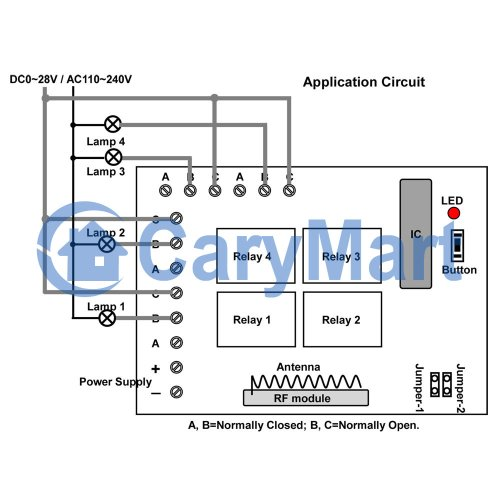 small resolution of 4 channel dc rf wireless remote control radio transmitter receiver 4 channel momentary remote wiring diagram