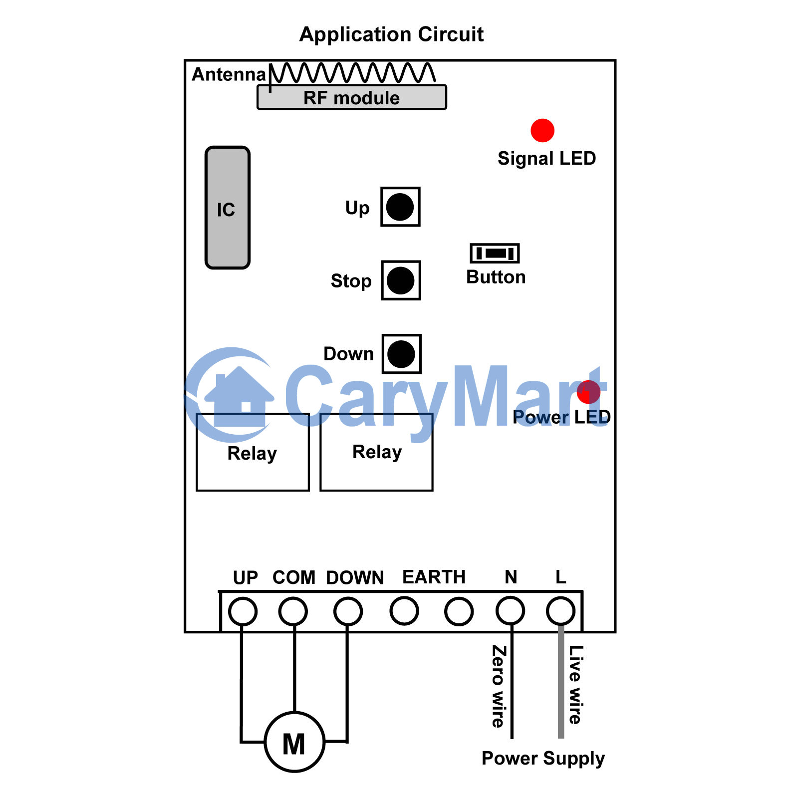 Ac 100 240v 2kw Motor Momentary Remote Control
