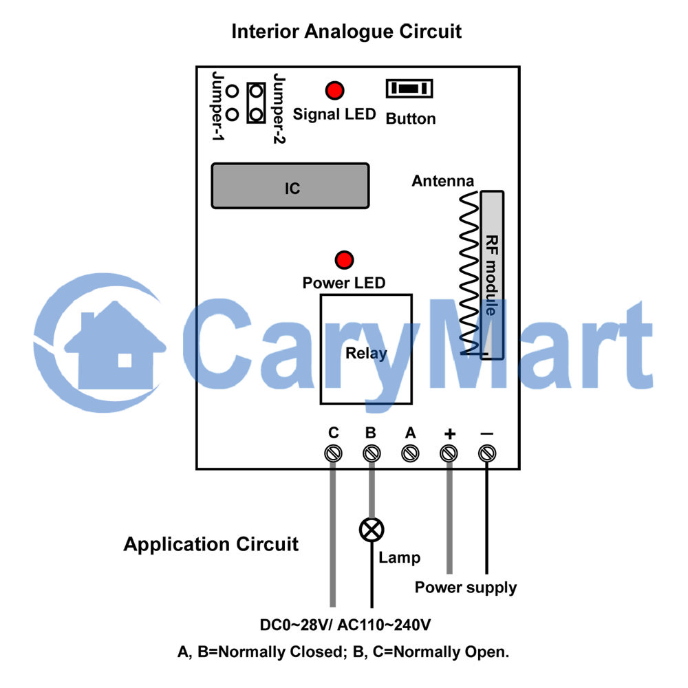 medium resolution of dc 6v 9v 12v 24v power output wireless remote control momentary switch 3 way toggle switch wiring remote control 12v dc switch wiring diagram